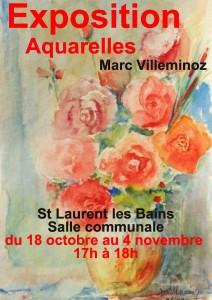 Exposition d'Aquarelles par Marc Villeminoz